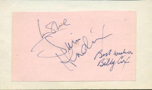 Jimi Hendrix Billy Cox Signed Autographed 2x4 Album Page Experince Beckett BAS