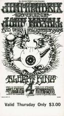 Jimi Hendrix Experience 1968 Concert Ticket Fillmore Thursday Feb 1 Purple Haze