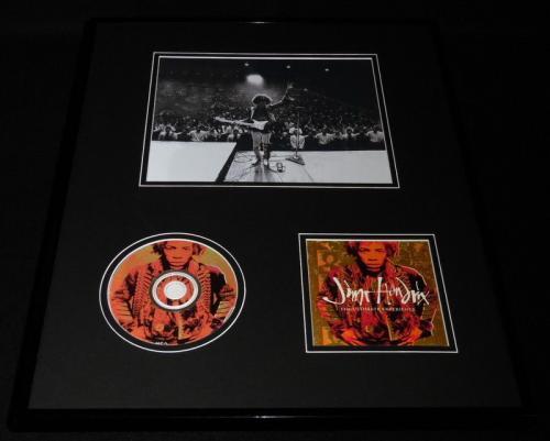 Jimi Hendrix Framed 16x20 Ultimate Experience CD & Photo Display