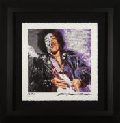 Jimi Hendrix limited edition Dick Zimmerman 16 of 500 Framed 23×23
