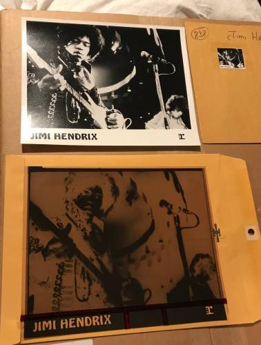 Jimi Hendrix Original 8×10″ B/W Promo Photo Production Negative in Original Envelope