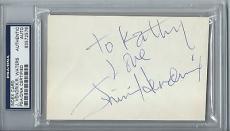 Jimi Hendrix & Roger Waters Dual Signed Autographed 3x5 Sid Barrett! PSA/DNA