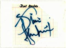 Jimi Hendrix Signed Authentic Autographed 4x6 Cut Signature PSA/DNA #H56070