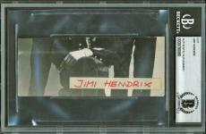 Jimi Hendrix Signed Autographed 2x5 Album Page Beckett BAS Authentic