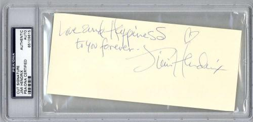 Jimi Hendrix Signed Autographed 3x6 Album Page Finest Known! PSA/DNA