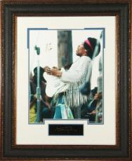Jimi Hendrix unsigned 11X14 Photo Engraved Signature Series Leather Framed (entertainment/music)
