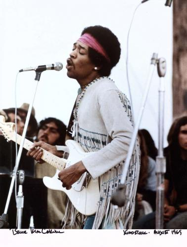 Jimi Hendrix Woodstock Limited Edition BRUCE MacCALLUM 11x14 Photograph