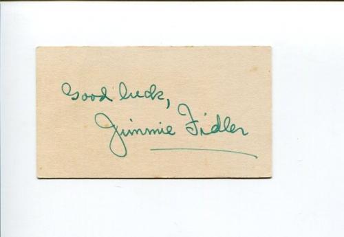 Jimmie Fidler Hollywood Radio Gossip Columnist Signed Autograph