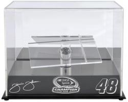 Jimmie Johnson 1:24 2010 Sprint Cup Champion Die-Cast Display Case with Platform - Mounted Memories