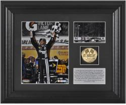 "Jimmie Johnson Bojangles' Southern 500 Race Winner 6"" x 5"" Photo with Plate & Gold Coin - Limited Edition of 348 - Mounted Memories"