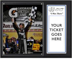 "Jimmie Johnson 2012 Bojangles' Southern 500 Sublimated 12'' x 15''""I Was There'' Photo - Mounted Memories"