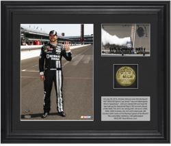 "Jimmie Johnson 12 Brickyard 400 Race Winner Framed 6"" x 5"" Photo with Plate & Gold Coin - Limited Edition"