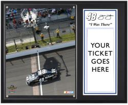 "Jimmie Johnson '12 Brickyard 400 Sublimated 12"" x 15""""I Was There"" Photo Plaque - Mounted Memories"