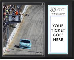 "Jimmie Johnson 2012 FedEx 400 Sublimated 12'' x 15''""I Was There"" Photo Plaque - Mounted Memories"