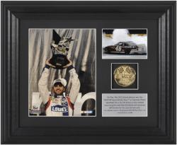 Jimmie Johnson 2012 All-Star Race Winner 6'' x 5'' Photo with Plate & Gold Coin - Limited Edition - Mounted Memories