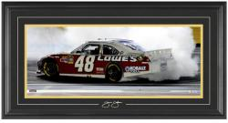 Jimmie Johnson 2012 Sprint All-Star Race Winner Framed Mini Panoramic with Facsimile Signature - Mounted Memories