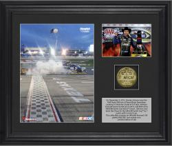 Jimmie Johnson 2013 AAA 500 Race Winner Framed 2-Photograph Collage with Gold-Plated Coin - Limited Edition of 348 - Mounted Memories