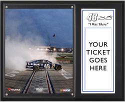Jimmie Johnson 2013 AAA 500 Sublimated 12'' x 15'' I Was There Plaque - Mounted Memories
