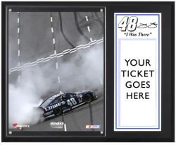 Jimmie Johnson 2013 STP Gas Booster 500 Sublimated 12'' x 15'' I WAS THERE Plaque - Mounted Memories