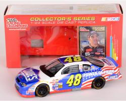 Jimmie Johnson #48 Red White Blue Lowes NASCAR 1:24 Diecast Car