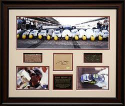 JOHNSON, JIMMIE FRAMED BRICKYARD PANO wAUTO CARD/BRICK/TRACK