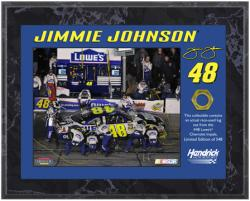 Jimmie Johnson 2010 Race-Used Lug Nut 8'' x 10'' Plaque - Limited Edition of 548 - Mounted Memories