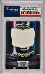 Jimmie Johnson Nascar 2011 Press Pass Showcase #SRM-JJ Card with Race Used Sheet Metal /45