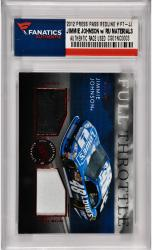 Jimmie Johnson Nascar 2012 Press Pass Redline #FT-JJ Card with Race Used Fire Suit & Sheet Metal /75