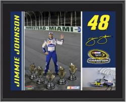 "Jimmie Johnson 2010 NASCAR Champ 10"" x 13"" Sublimated Plaque - Mounted Memories"