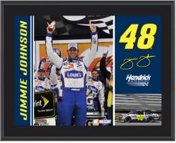 "Jimmie Johnson 10"" x 13"" Sublimated Plaque - Mounted Memories"