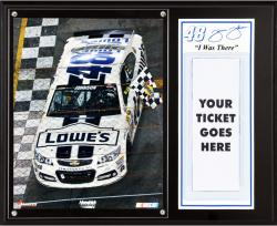Jimmie Johnson 2013 Coke Zero 400 Race Winner Sublimated ''I Was There'' 12'' x 15'' Plaque - Mounted Memories
