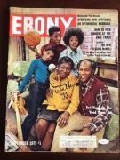 "Jimmie Walker (JJ),""Autographed"" EBONY 1975 Magazine (JSA) Good Times (Scarce)"