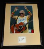 Jimmy Buffett Signed Framed 16x20 Photo Poster Display JSA