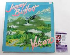 Jimmy Buffet Signed LP Record Album Volcano w/ JSA AUTO