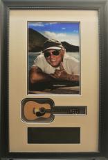 Jimmy Buffett 9x14 Framed Photo w/ Mini Guitar