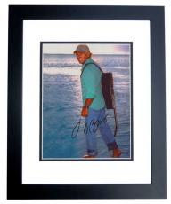 Jimmy Buffett Autographed Beach 8x10 Photo BLACK CUSTOM FRAME