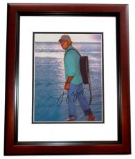 Jimmy Buffett Autographed Beach 8x10 Photo MAHOGANY CUSTOM FRAME