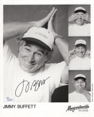 JIMMY BUFFETT HAND SIGNED 8x10 PHOTO      MARGARITAVILLE    MUSIC LEGEND     JSA