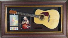 Jimmy Buffett Signed Acoustic Guitar Framed Display