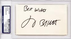 Jimmy Buffett Signed - Autographed 3x5 inch Index Card - Margaritaville Singer - Vintage - RARE Full Signature - PSA/DNA Authenticity (COA) - PSA Slabbed Holder