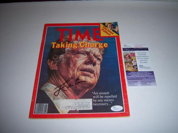Jimmy Carter 1980 Time Magazine,president Jsa/coa Signed Time Magazine