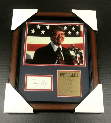 JIMMY CARTER 39TH PRESIDENT USA Facsimile Autographed REPRINT Framed 8x10 Photo