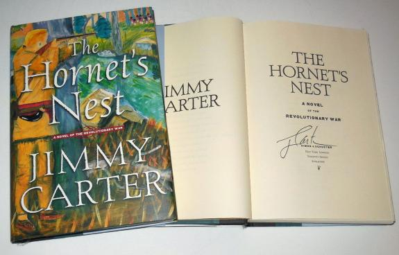 Jimmy Carter Autographed The Hornets Nest Book W/ Proof! - President