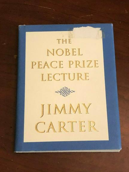 Jimmy Carter President Nobel Peace Prize Lecture Rare Signed Autograph Book COA