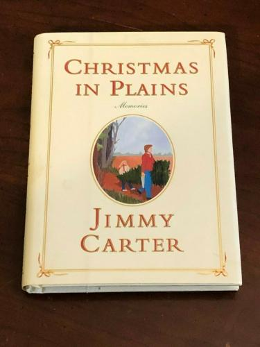 Jimmy Carter President Nobel Prize Christmas In The Plains Signed Autograph Book