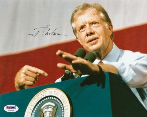 Signed Jimmy Carter Photo - PRESIDENTIAL PRESIDENT 8x10 PSA DNA COA