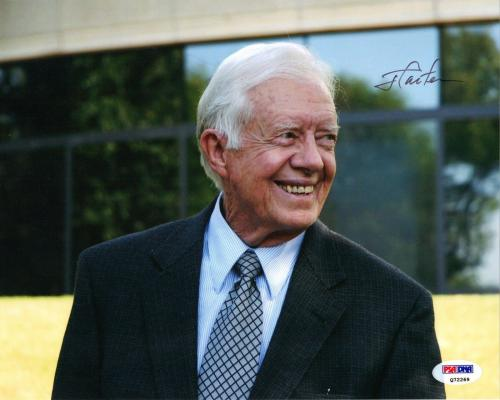 Jimmy Carter PRESIDENTIAL PRESIDENT Signed 8x10 Photo PSA/DNA COA