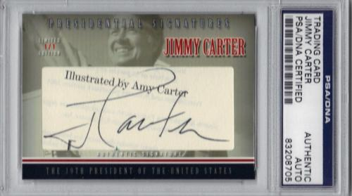 Jimmy Carter PRESIDENTIAL Signed Cut CARD #'d 1/1 PSA/DNA