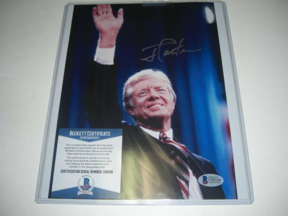 Jimmy Carter President,nobel Peace Prize Winner Beckett/coa Signed 8x10 Photo