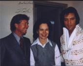 Jimmy Carter & Rosalynn Carter Signed Autographed Color 8x10 Photo Elvis Presley